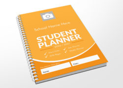 yellow student planner